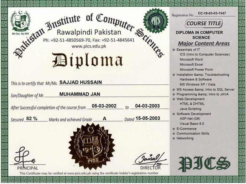 Pakistan Institute of Computer Sciences, Free Online Certification ...